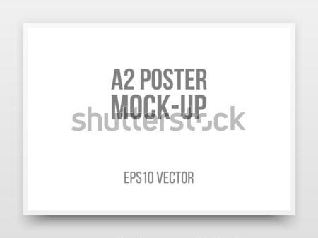 Negro anunciante realista plantilla sombra Foto stock © molaruso