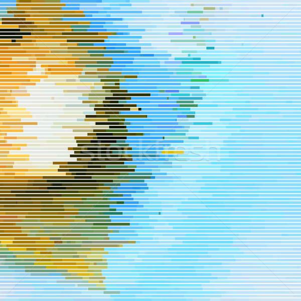 Abstract effetto casuale orizzontale giallo blu Foto d'archivio © molaruso