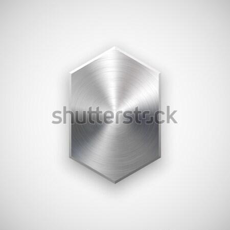 抽象的な 技術 幾何学的な バッジ ボタン テンプレート ストックフォト © molaruso