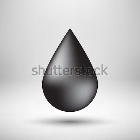 Fekete buborék ikon kitűző fény olaj Stock fotó © molaruso