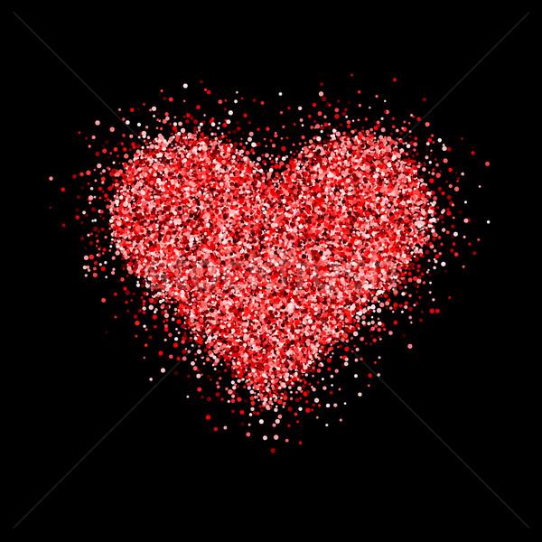 赤 グリッター クリスマスツリー バレンタインデー 中心 にログイン ストックフォト © molaruso