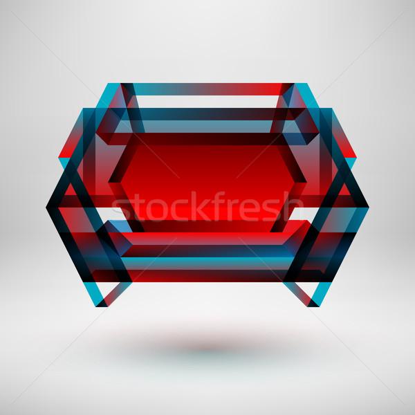 Resumen color placa rojo azul gradiente Foto stock © molaruso