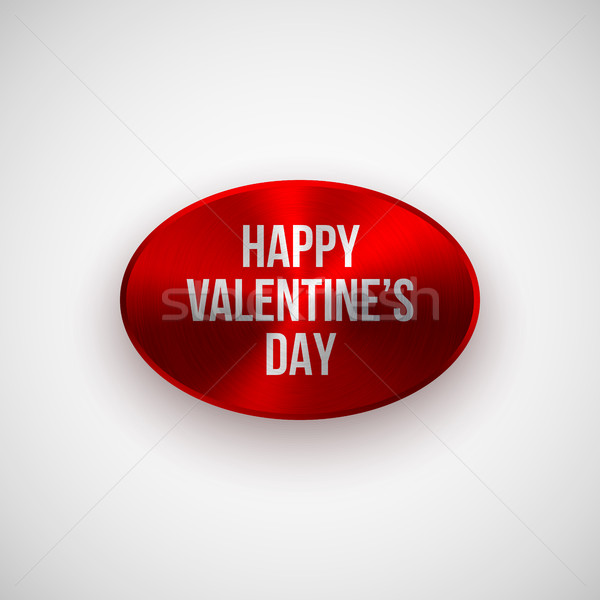 Red Abstract Valentines Badge Stock photo © molaruso