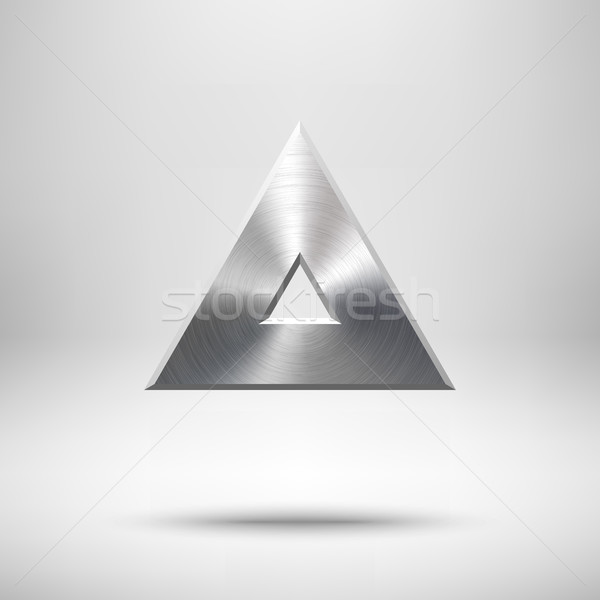 Abstract Triangle Button Template Stock photo © molaruso