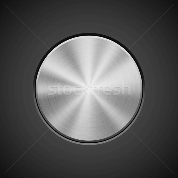 металлический круга Знак металл кнопки Сток-фото © molaruso