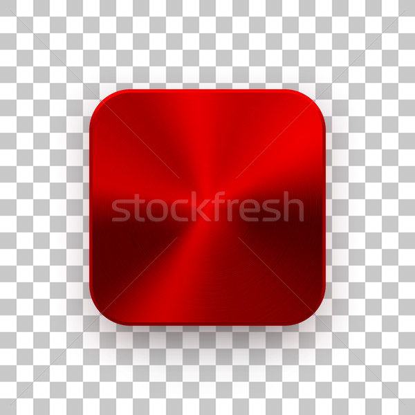 Red App Icon Template with Metal Texture Stock photo © molaruso