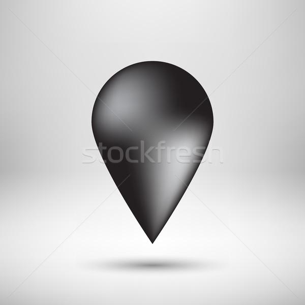 黒 バブル 地図 バッジ 抽象的な のGPS ストックフォト © molaruso