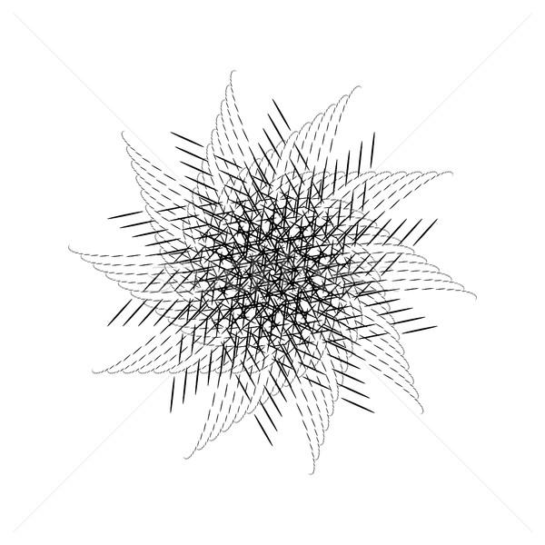 Nero abstract frattale spirale rotazione Foto d'archivio © molaruso