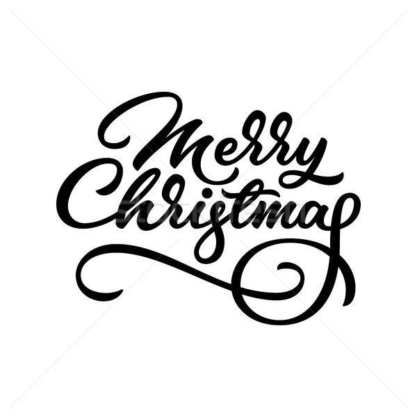 Merry Christmas Lettering Badge Stock photo © molaruso