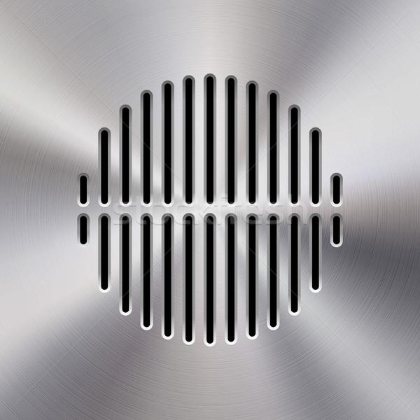 Muzyki metal audio Język szablon dynamiczny Zdjęcia stock © molaruso