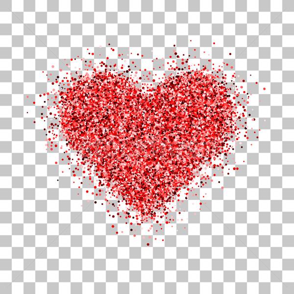 Rosso glitter albero di natale san valentino cuore segno Foto d'archivio © molaruso