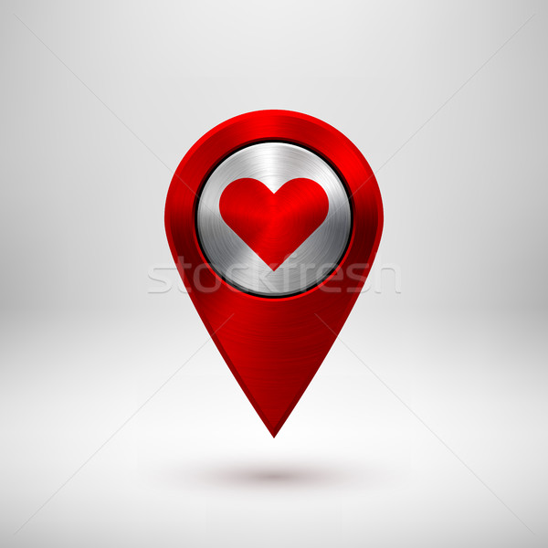 Red Technology GPS Map Pointer Stock photo © molaruso