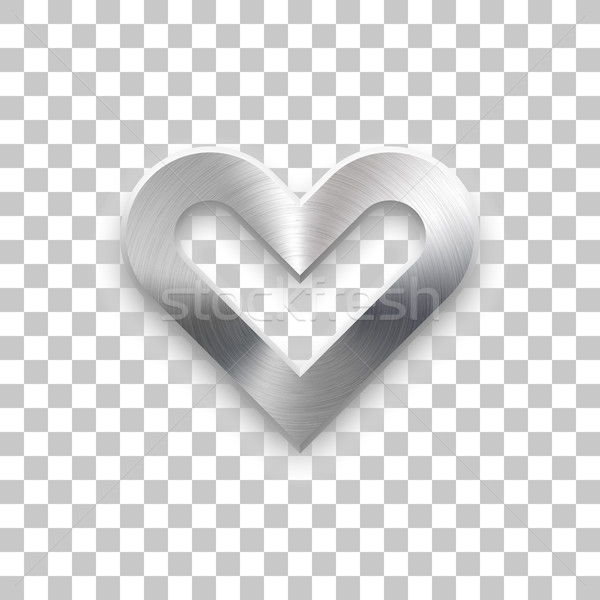 Abstract Heart Sign with Metal Texture Stock photo © molaruso