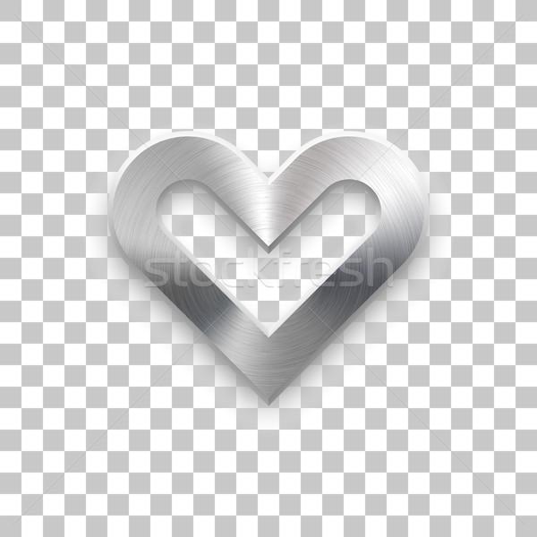 抽象的な 中心 にログイン 金属の質感 バッジ バレンタインデー ストックフォト © molaruso