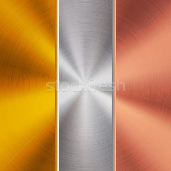 Oro metal cromo bronzo tecnologia raffinato Foto d'archivio © molaruso