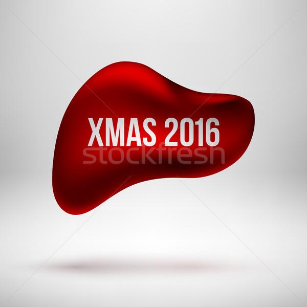 赤 クリスマス バブル バッジ 陽気な クリスマス ストックフォト © molaruso