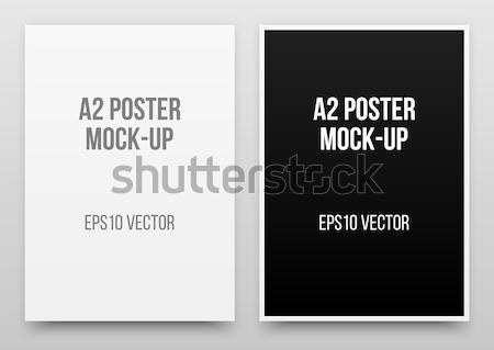 Fekete poszter vázlat plakátok valósághű sablon Stock fotó © molaruso