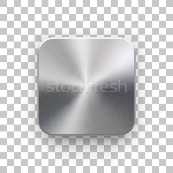 App Icon Template with Metal Texture Stock photo © molaruso