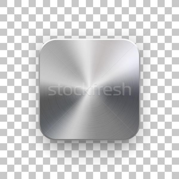 Foto stock: Aplicativo · ícone · modelo · textura · do · metal · metal · tecnologia