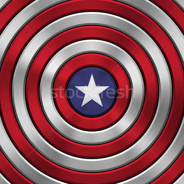 Stock photo: 4th of July Independence Day Badge