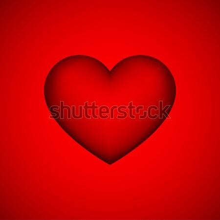 赤 抽象的な 中心 にログイン バレンタインデー ボタン ストックフォト © molaruso
