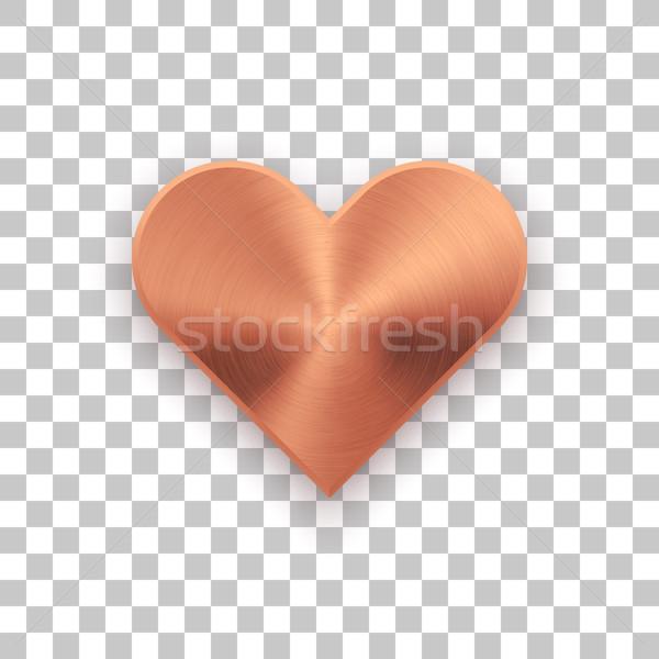 Bronzo abstract cuore segno metal texture badge Foto d'archivio © molaruso