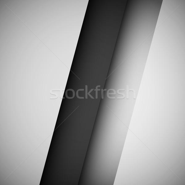 黒白 抽象的な 技術 勾配 現実的な 影 ストックフォト © molaruso