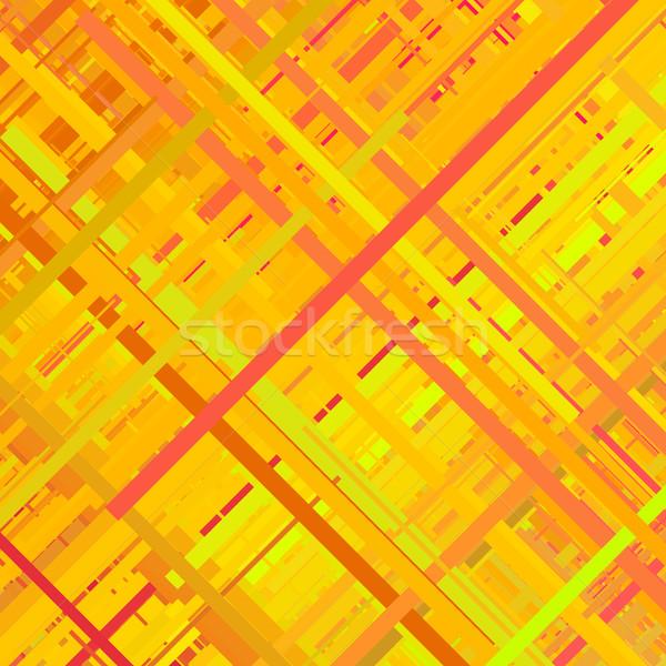 Orange Glitch Background Stock photo © molaruso