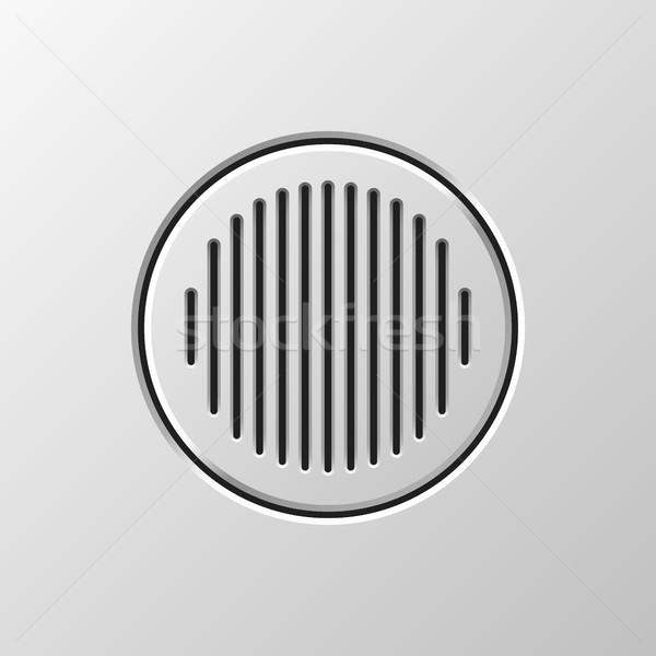 Abstract audio spreker sjabloon dynamisch grill Stockfoto © molaruso