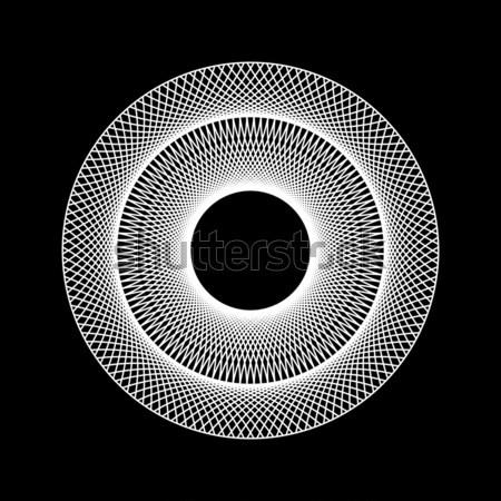 Branco abstrato fractal forma tecnologia preto Foto stock © molaruso
