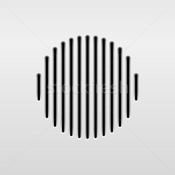抽象的な オーディオ スピーカー テンプレート ダイナミック グリル ストックフォト © molaruso