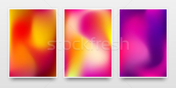 Kolor gradient plakat szablony banery Zdjęcia stock © molaruso