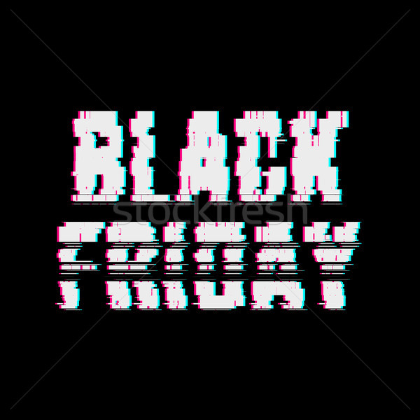 Abstrato black friday tipografia efeito bicho erro Foto stock © molaruso