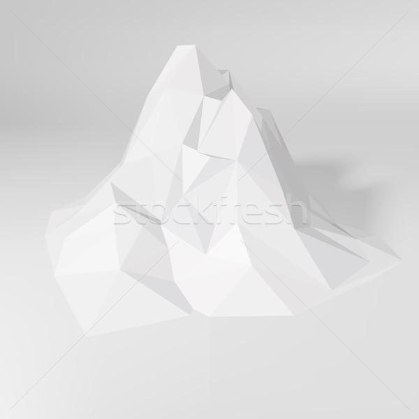 Blanco resumen 3D montanas mosaico paisaje Foto stock © molaruso