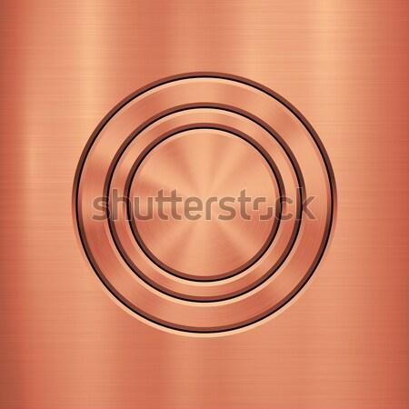 Bronce metal tecnología círculo pulido metálico Foto stock © molaruso