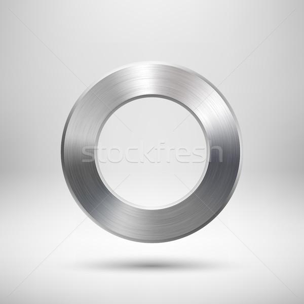 Foto stock: Abstrato · rosquinha · botão · modelo · anel · distintivo