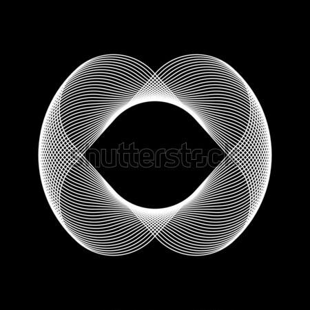 белый аннотация фрактальный форма технологий черный Сток-фото © molaruso