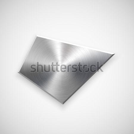 Absztrakt mértani gomb sablon forma technológia Stock fotó © molaruso