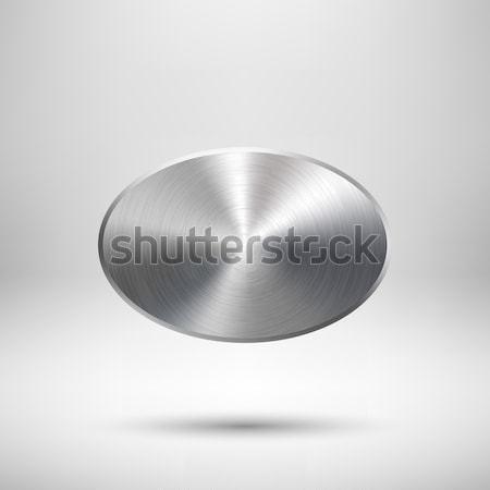 Foto stock: Abstrato · círculo · botão · modelo · distintivo · textura · do · metal