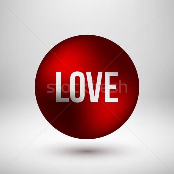 Piros szeretet buborék kitűző absztrakt prémium Stock fotó © molaruso
