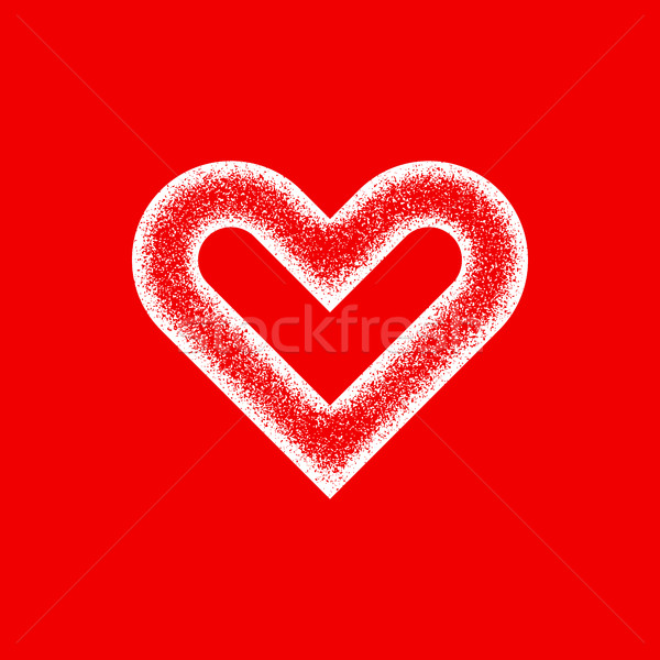 White Abstract Heart Sign with Grain Texture Stock photo © molaruso