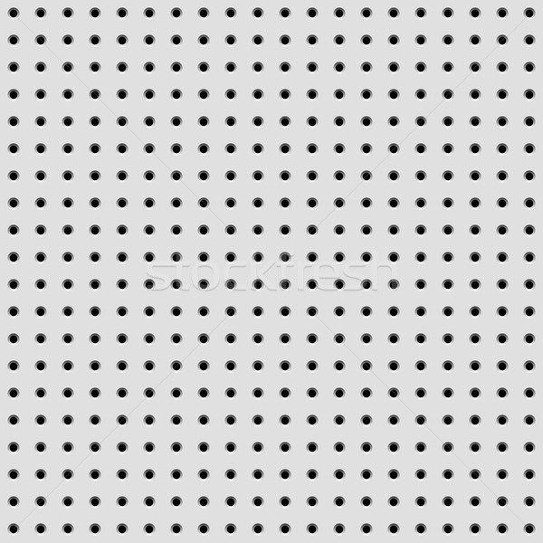Stock photo: White Background with Perforated Pattern