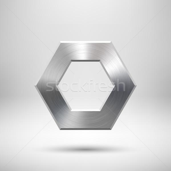 Abstract polygon Button Template Stock photo © molaruso