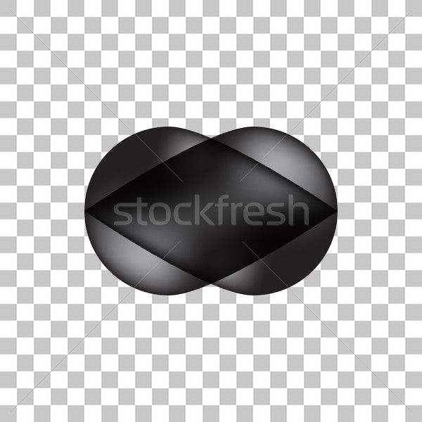Black Bubble Icon Badge with Light Background Stock photo © molaruso