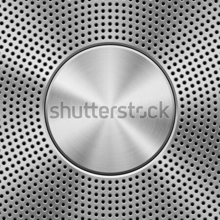 металл шаблон технологий круга оратора гриль Сток-фото © molaruso
