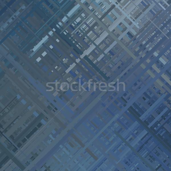 Blue Glitch Background Stock photo © molaruso