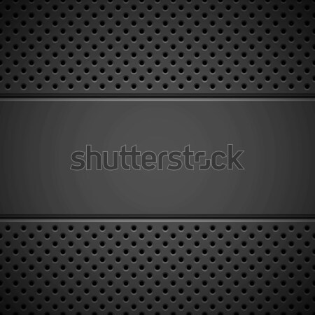 Black Background with Perforated Pattern Stock photo © molaruso