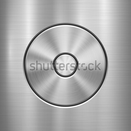 Stockfoto: Abstract · badge · sjabloon · knop · metaal · textuur · chroom