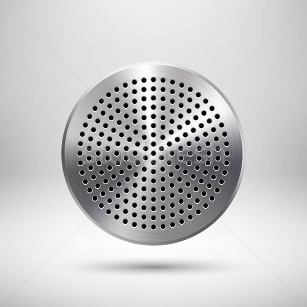 Absztrakt kör gomb sablon kitűző audio Stock fotó © molaruso