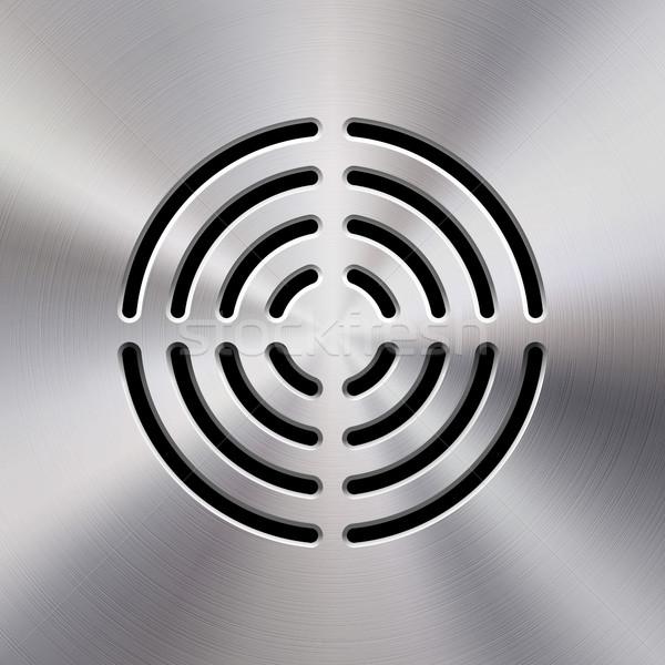 Zene fém audio hangszóró sablon dinamikus Stock fotó © molaruso